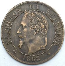 France Napoleon III 2 centimes 1862 BB bronze #1103