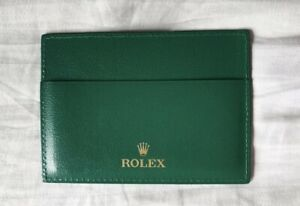 Rolex Spare Green Guarantee Card Wallet New And Unused