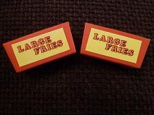 BUILD A BETTER BURGER GAME SPARES VINTAGE 1984  ACTION GT LARGE FRIES BOX x 2