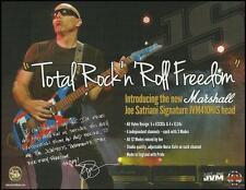 Joe Satriani Signature Marshall JVM 410HJS guitar amp head 8 x 11 ad print