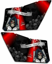 Polaris RZR OEM Door Graphics Kit 570 800 900 Decal Reaper Revenge Red