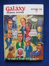 Original Galaxy Sci-Fi Magazine wi WILLY LEY Drawing BRADBURY, ASIMOV, STURGEON