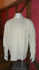 Large 100%Cotton Long Sleeve Casual Fine Knitted Shirt in Cream by Marco Polo