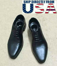 "1/6 Scale Men's Dress Shoes For 12"" Hot Toys Custom Male Figure U.S.A. SELLER"