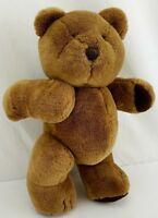 "Vintage VTG 1985 15"" Bearland Jointed Plush Brown Bear Teddy"