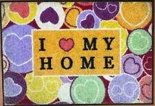 KLEEN-TEX wash+dry Wohnmatte / Fußmatte I love my home ca. 50 x 75 cm - 032472