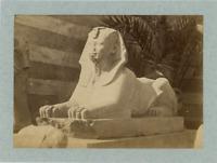 Egypte, Le Sphynx Thoutmôsis III vintage albumen print,  Tirage albuminé  16