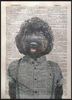Black Cockapoo Print Vintage Dictionary Page Wall Art Picture Dog Cockerpoo