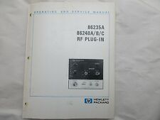 HEWLETT PACKARD 86235A 86240A /B/C  RF PLUG-IN OPERATING & SERVICE MANUAL