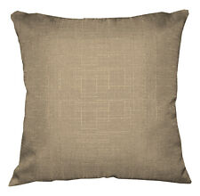 Qh11a Tan Thick Cotton Blend Style Cushion Cover/Pillow Case Custom Size