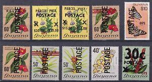 Guyana 1473/1482 postfr./mnh Überdrucke 1985