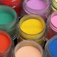 24Colors 3D DIY Jumbo Fine Shiny Glitter Acrylic UV Powder Dust Tip Nail Art