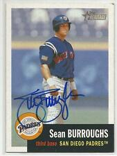 SEAN BURROUGHS Autographed Signed 2002 Topps Heritage card San Diego Padres COA