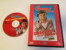 ROY CHUBBY BROWN OBSCENE AND NOT HEARD  DVD -  EXCELLENT CONDITION UK RELEASE