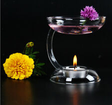 Glass Candlestick Tealight Candle Holder Aroma Oil Burner Warmer Diffuser Stove