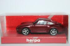Porsche 911 ( 993 )  Carrera 4S  rotmetallic IE grau  Herpa  1:87