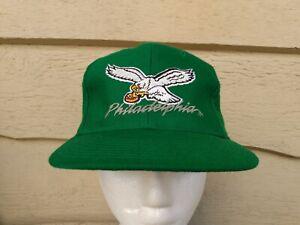 New Era fitted Hat vtg Baseball cap sz 7 Wool Philadelphia Eagles Wool NFL Green