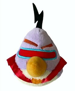 """Angry Birds In Space Lazer Bird 5"""" Purple Red Cape Plush Stuffed Animal Toy"""