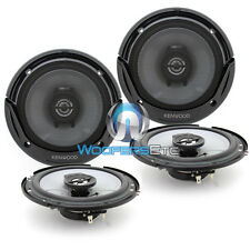 "2 PAIRS KENWOOD KFC-1665S 6.5"" BUILT IN TWEETERS 2-WAY 300W COAXIAL SPEAKERS NEW"