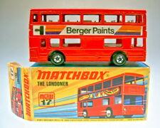 "Matchbox SF Nr.17B The Londoner rot ""Berger Paints"" dot-dash Räder top in Box"