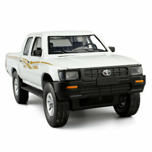 Toyota Hilux Pickup Truck 1/32 Scale Model Car Diecast Toy Vehicle White Kids
