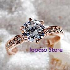 Cubic Zirconia Alloy Solitaire Fashion Rings