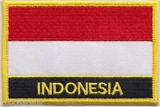 Indonesia Flag Embroidered Patch Badge - Sew or Iron on