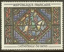 "FRANCE STAMP TIMBRE N° 1427 "" VITRAIL CATHEDRALE SENS "" NEUF xx TTB"