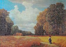 "VINTAGE 673 PIECE WOODEN JIGSAW PUZZLE. ""THE HARVEST"" Artist: Robert Zünd"