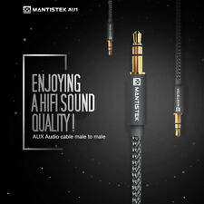 MantisTek 1.2M AUX Cable 3.5mm Male to Male Braided Cable for Car AUX/Headphone