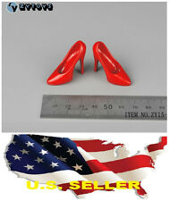 """❶❶1/6 scale shoes for 12"""" Female Figure Red high heeled shoes SHIP FROM U.S.❶❶"""