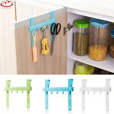 Plastic Kitchen Storage Door Rack Five Hooks Hanging Rack Holders Towel Hangers
