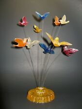 MID CENTURY MODERN LUCITE KINETIC  SCULPTURE 60'S ABSTRACT BIRD ART  ATOMIC