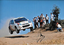 Carlos Sainz SIGNED 12x8  Ford Focus RS WRC  , Acropolis Rally Greece 2000