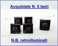 4+1 TASTI INTERRUTTORE ALZAVETRO PULSANTE TASTIERA VETRI MERCEDES A B ML GL R