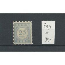 Nederland P59  port 25 ct   MH/ongebr  CV 90 €