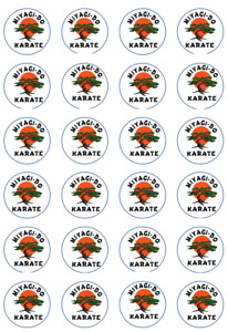 24 x Edible Cupcake Toppers - Rice / Wafer Paper - Perfect for Miyagi Do Fans