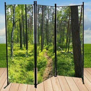 Paravent - Wald - Sichtschutz mit Fotodruck Raumteiler Trennwand Spanische Wand