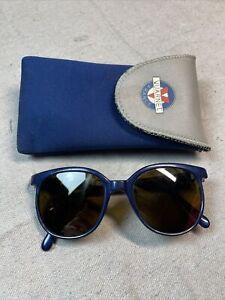 Vintage Rare Vuarnet Sunglasses France Blue Nylon Brevete SGDG Cat Eyes