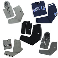 Nike Air Team Club 19 Just Do It Basic Tracksuit Black Grey and Blue