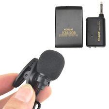 Pratique Noir Mini Sans fil micro KONGIN KM-208 karaoke discours conférence