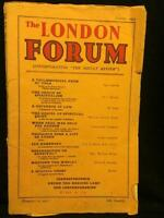 1934 LONDON FORUM OCCULT REVIEW SPIRITUALISM ENTITIES ESOTERIC SPIRIT PSYCHIC