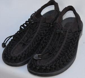 Keen Uneek Mens Shoe Size 10 Black Paracord Sandal Great Shape