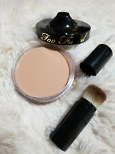 Too Faced Cream to Powder Foundation in Vanilla, (Light) & Brush. FULL SIZE HTF