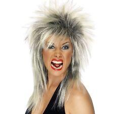 Rock Diva Wig Two Tone Blonde & Black Long Mullet AC