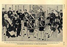Volkstümlicher japanischer Bilderbogen: Der Mikado & seine Generäle c.1905