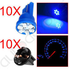 "10x Blue T10 194 LED Bulbs+10x 1/2"" Sockets Instrument Gauge Cluster Dash Light"
