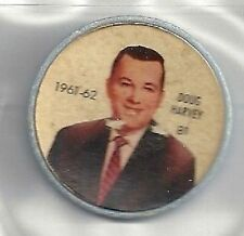 DOUG HARVEY 1961-62 Salada / Shirriff Coin #81 Hockey VG '61 New York Rangers