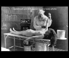 Vintage Autopsy PHOTO Creepy Scary Weird Nude Girl Body 1901 Dead Spooky Doctor