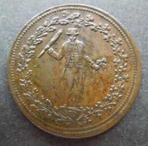 Canada c1830 Irishman Pure Copper Preferable to Paper Clover 1/2 Halfpenny Token